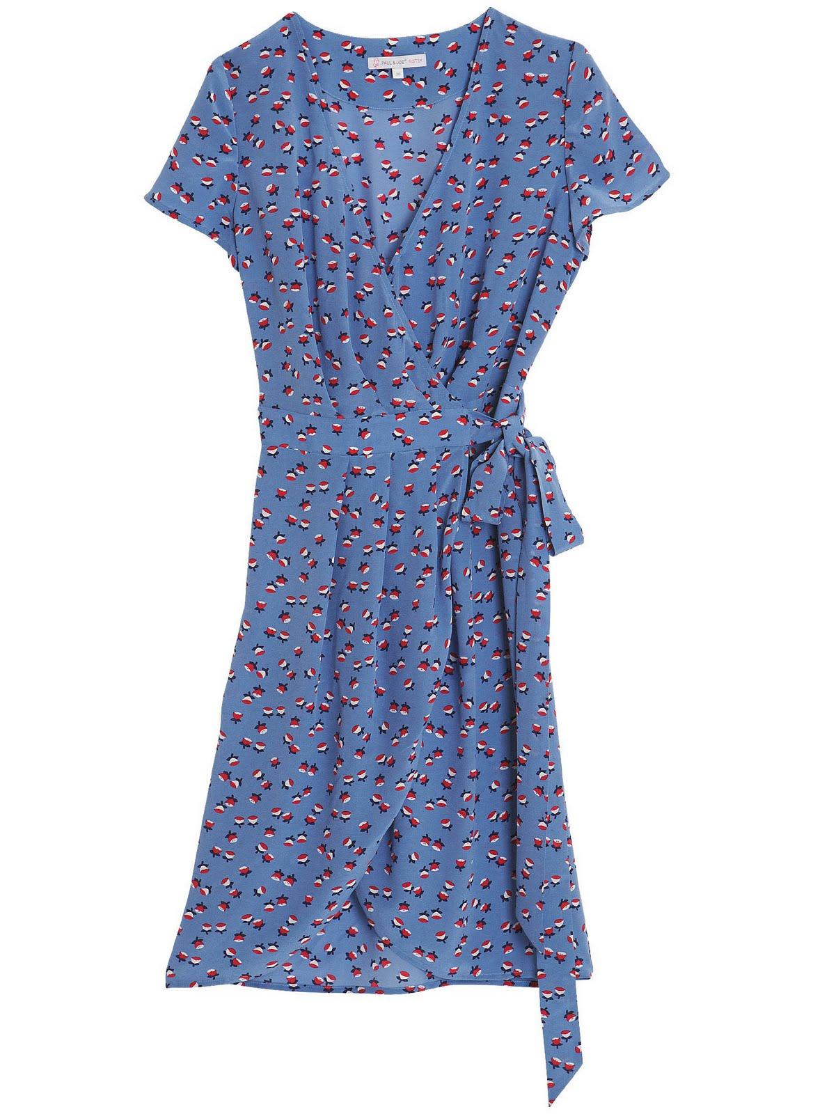 hidden gem paul joe sister paris printed wrap dress. Black Bedroom Furniture Sets. Home Design Ideas
