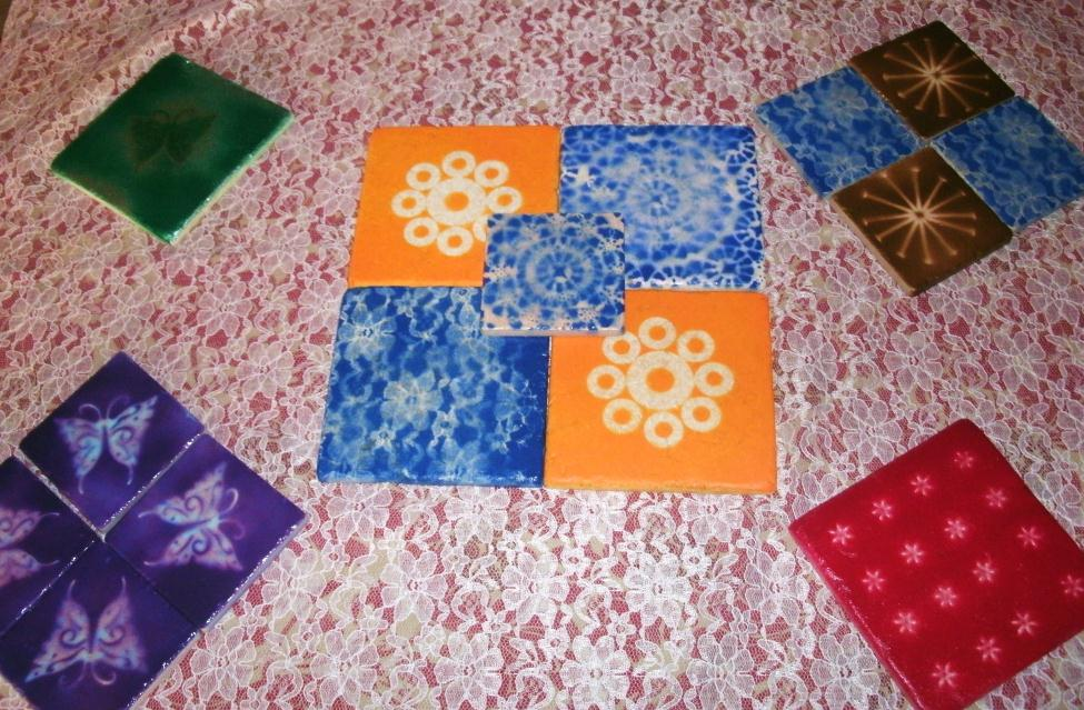 Bitsypieces 30 Days Of Flowers Day 9 Recycled Tile Designs