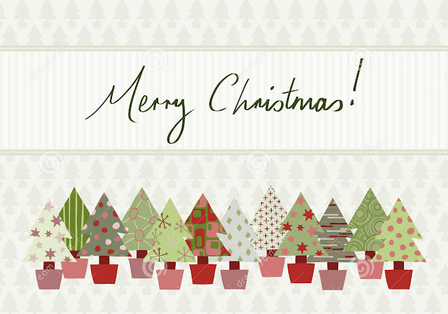 merry christmas art card