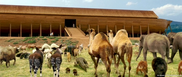 Amazing World Genetics All Creatures From Noah S Ark Noah S Ark While Animals Are Going To The Ark Drawing With Color