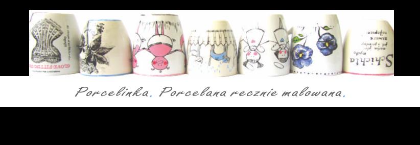 Porcelinka. Porcelana ręcznie malowana.