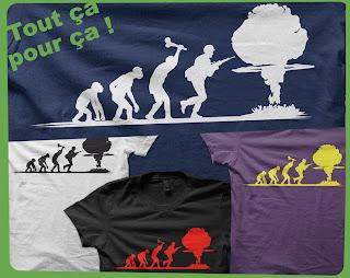 tout ça pour ça évolution bombe atomique  champignon nucléaire  explosions  tee-shirt t-shirt   flex www.rueduteeshirt.com