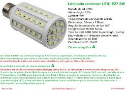 LÂMPADA (EMISSOR LED) E27 8W