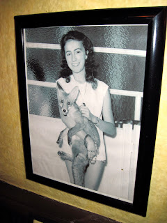 A photo of a young Elayne Bruno, owner of the Old New York restaurant Chez Napoleon