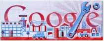 Día del Trabajador logo de Google Día Internacional de los Trabajadores 1 de mayo primero de mayo doodle google