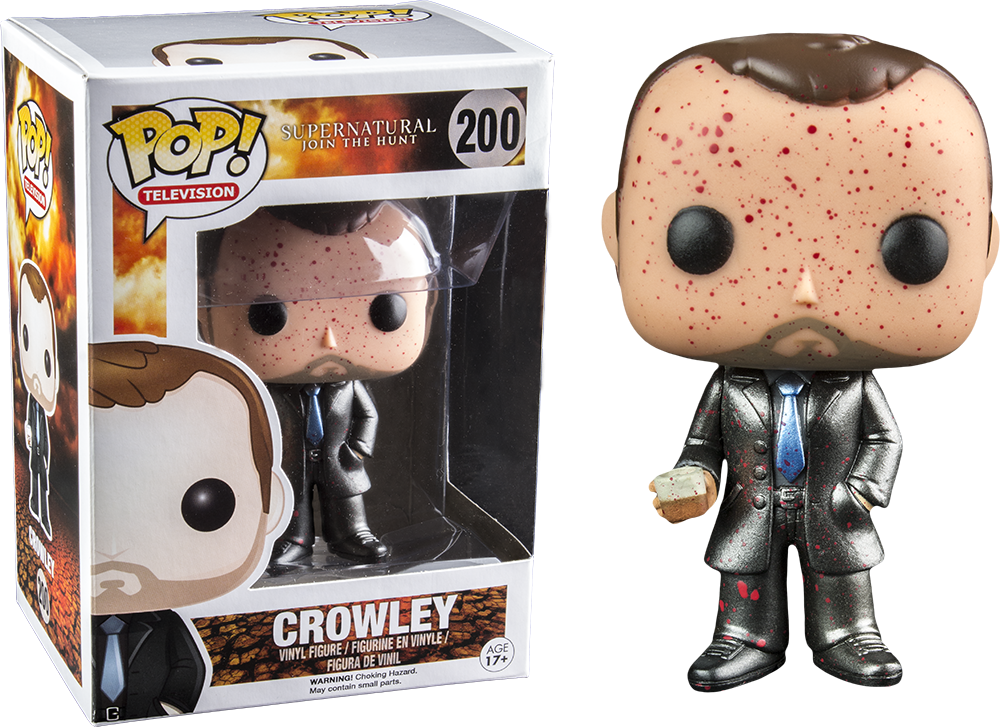 Funko Pop! Crowley Metallic Blood Splatter Supernatural