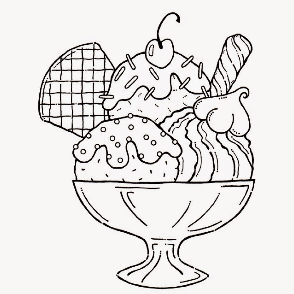 8 ice cream sundae coloring pages for Free coloring pages of ice cream