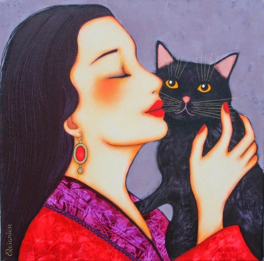 Ela e o gato