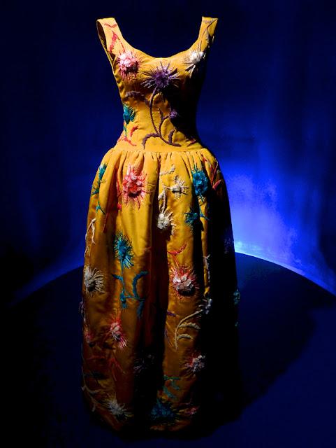 Vestido en la exposición del Museo Balenciaga