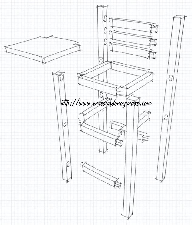 Stool drawing all my woodworking and diy photos for Taburete dwg
