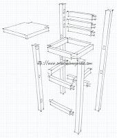 SketchUp taburete alto, enredandonogaraxe