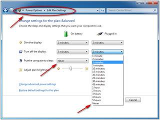 Merubah Mode Sleep – Tips Agar Download Tidak Terputus
