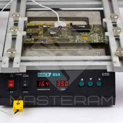 Установка платы на преднагревателе плат Quick 854