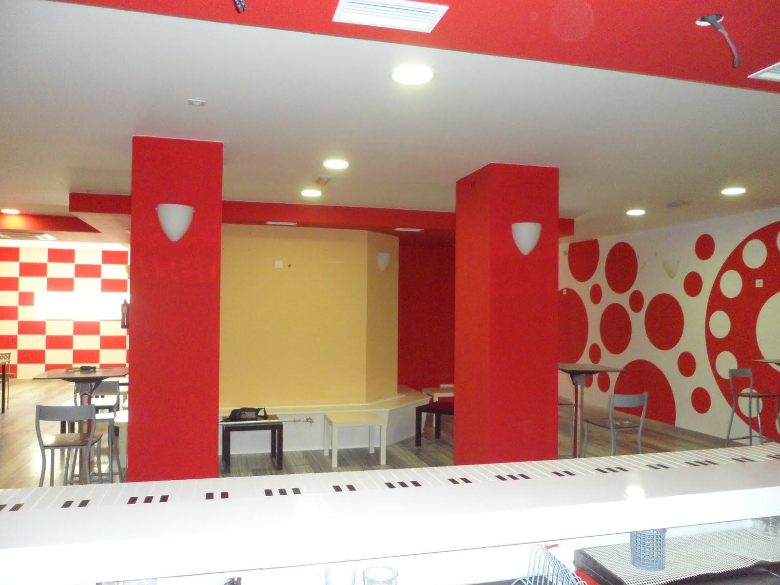Murales art sticos decoraci n de caf bar for Decoracion cafeteria