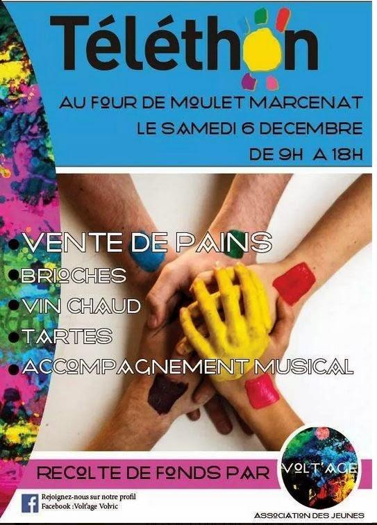 Téléthon 2014: Moulet Marcenat, 63