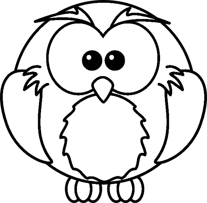 Cartoon Owl Coloring Pages high resolution