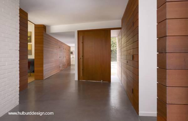 Arquitectura de casas fachada de madera en casa moderna - Revestimientos de paredes interiores en madera ...