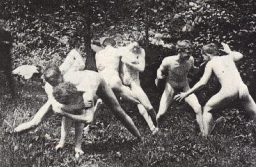 Art Students Wrestling ... nude art form. Photographic Study, Thomas Eakins, ...