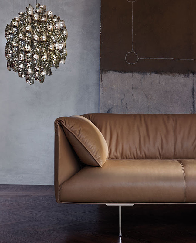 Elegante sof en piel de jean marie massaud para poltrona for Muebles de oficina kennedy