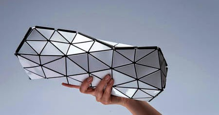 Distortion. Bolso inspirado en el Origami