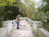 Me and Blizzard on the bridge at Parvin