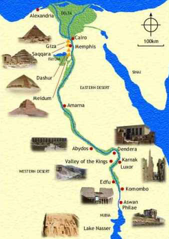 Ancient Egypt Pyramids Map - Map of egypt with pyramids