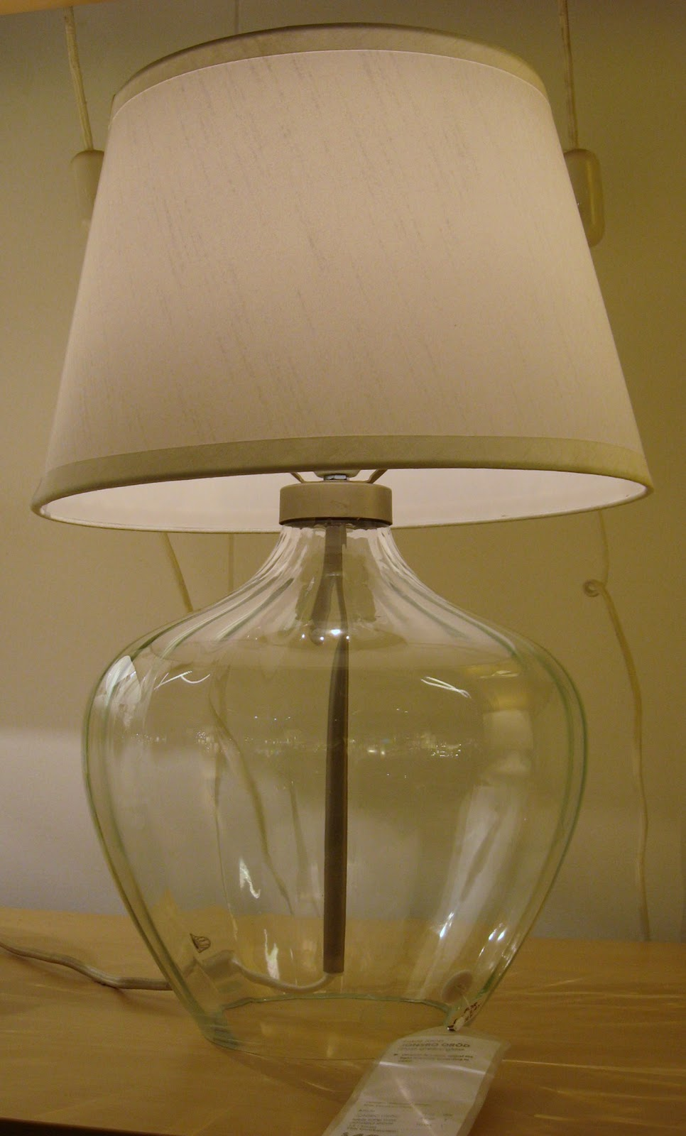 clear glass lamps the bottom of the lamp base is open think of all. Black Bedroom Furniture Sets. Home Design Ideas