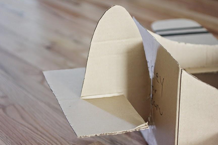 how to make cardboard airplane wings