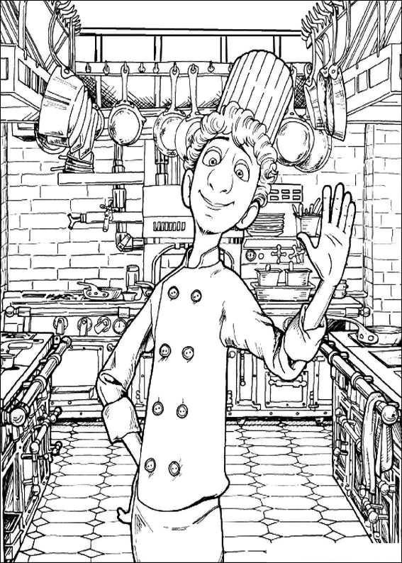 Cartoon Design: Ratatouille Coloring Pages : Linguini\'s Chef Cook ...