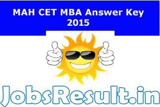 MAH CET Answer Key 2015