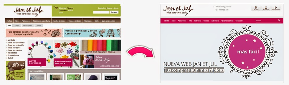 Nueva web de Jan et Jul