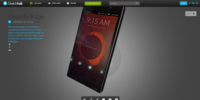 Ubuntu Edge em 3D