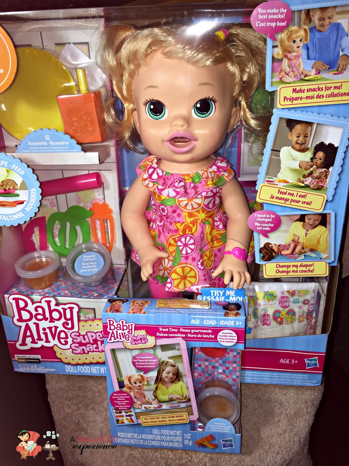 Baby Alive Super Snacks Snackin Sara Doll Review Plus