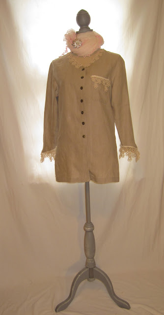 Linen Woman's Duster Light Blazer Romantic Spring Summer Shirt Blouse