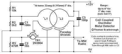 Terrific Circuit Diagram Coil Coupled Operation Metal Detector Wiring 101 Jonihateforg