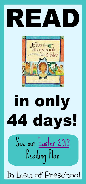 The Jesus Storybook Bible Reading Plan for Easter 2013