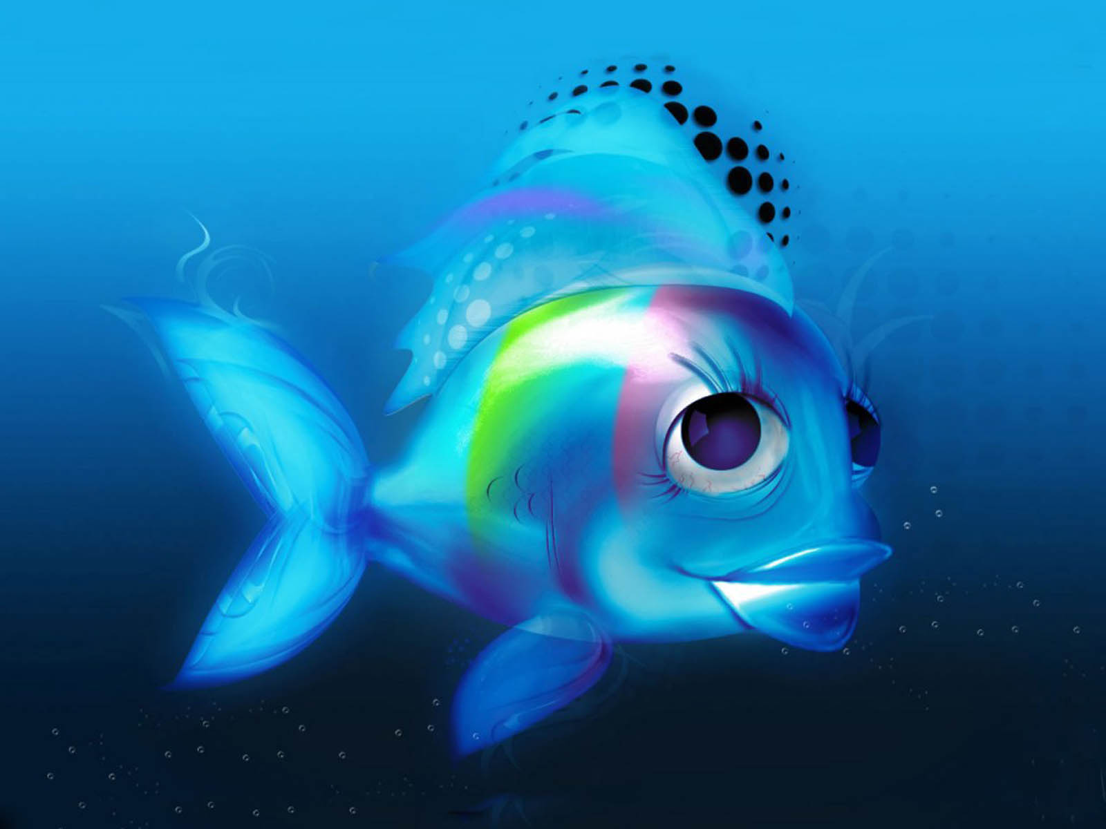 blue fish wallpaper backgrounds-#36