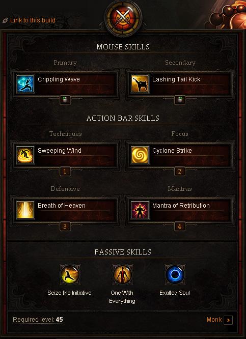 Diablo Monk Leveling Build