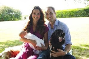 William, Kate, George & Lupo