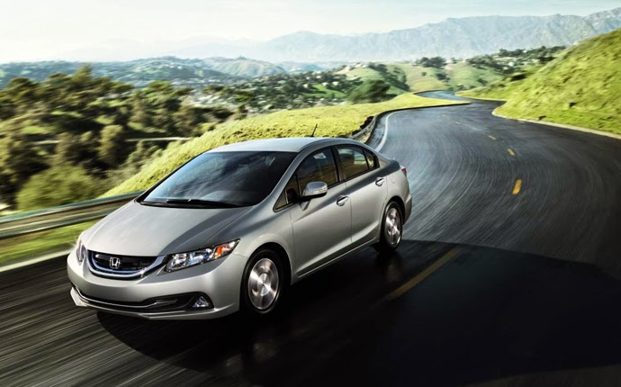 New Honda Civic hybrid in LA