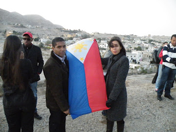 Bp Salomao and Ptra Patricia on top of the Temptation Mount in Israel to pray for the Philippines
