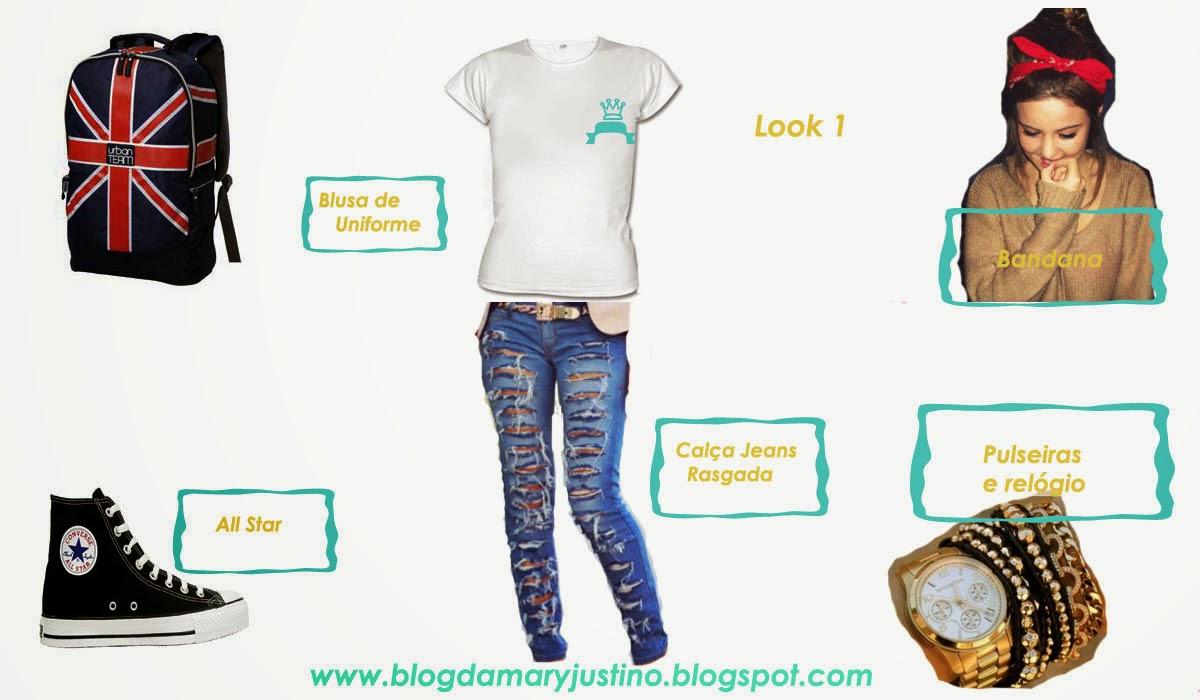 Amado Blog Da Mary Justino: Montando um Look Escolar Estiloso com Uniforme ZI81