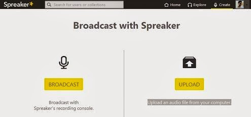 Broadcast or Upload in Speaker dashboard