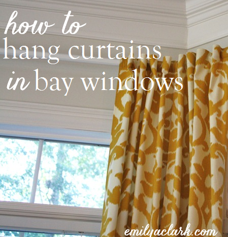 Hanging Curtains On Bay Windows Long Curtains Bay Window