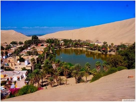 Tasik Oasis Ditengah Padang Pasir Di Selatan Peru