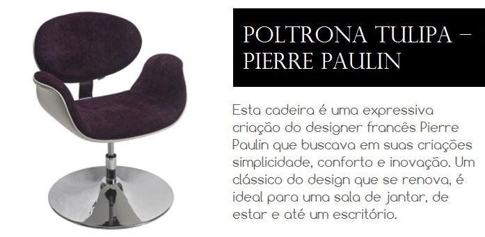 Cadeira de design criação do designer Pierre Paulin