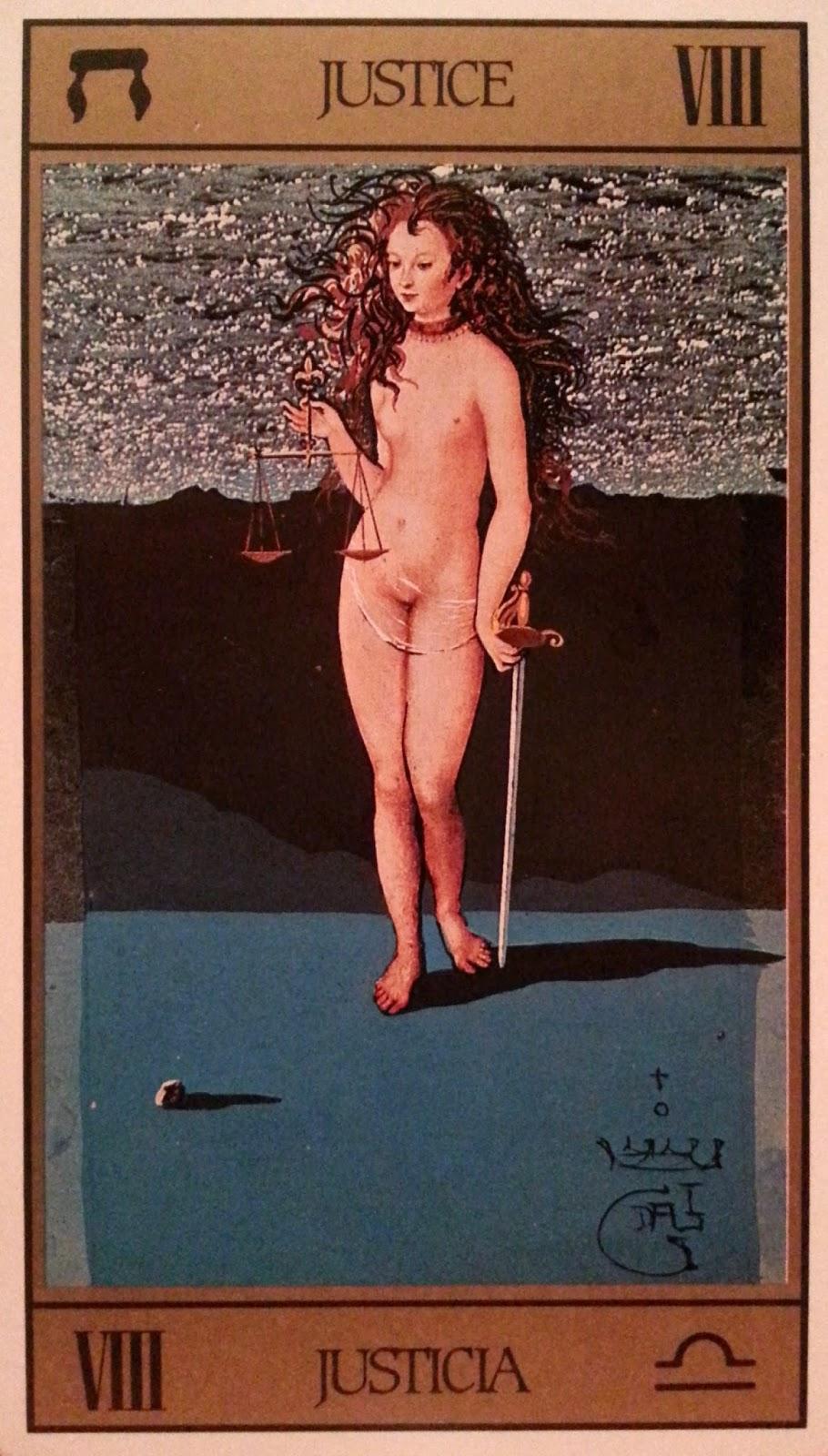 La Justicia- Tarot Dalí