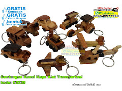 Gantungan Kunci Kayu Alat Transportasi