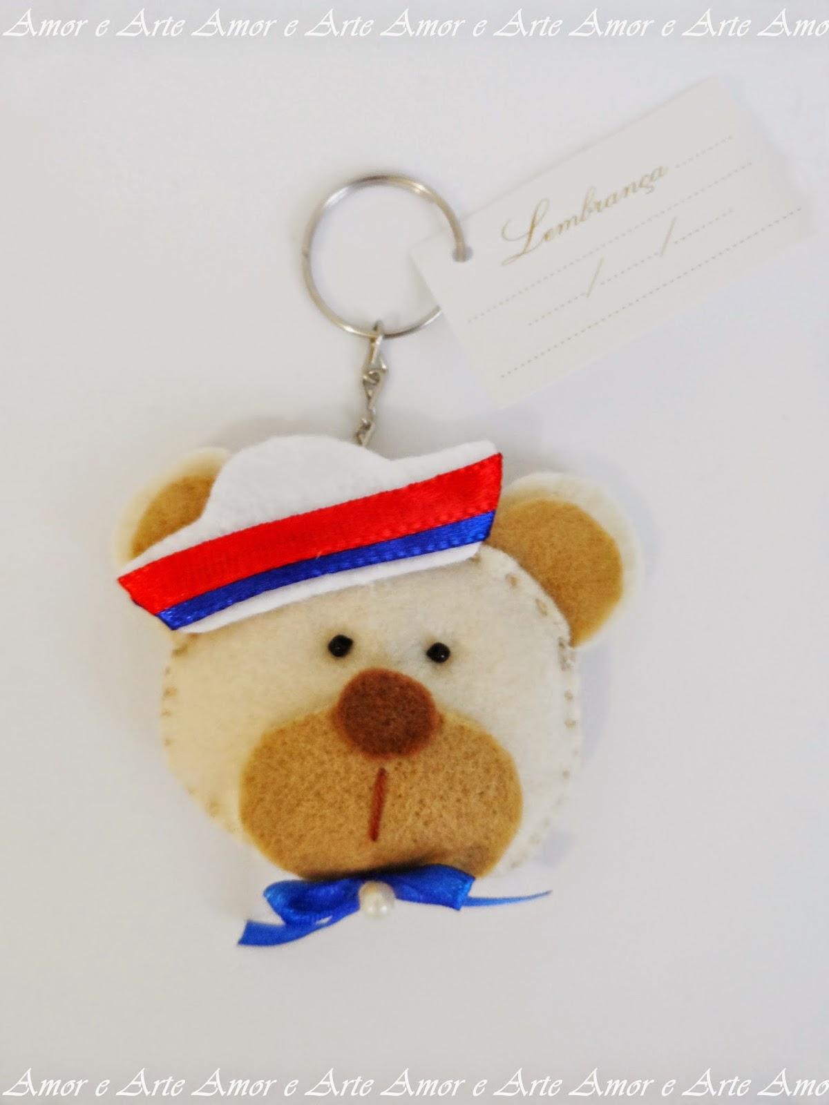 Chaveirinho, Urso Marinheiro em Feltro - Lembrancinha