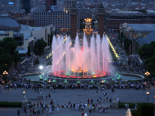 Magic Fountain of Montjuic Barcelona Spain